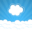 Abstract background with Rays and clouds vector image vector image