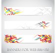 Banners for web collection vector image
