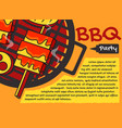 bbq party backgroundbanner graphic greeting vector image vector image