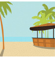 beach bar with palm trees vector image vector image