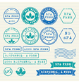 Bisphenol-A stamps set vector image