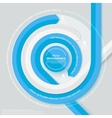 Blue circle ribbon infog-raphics vector image vector image