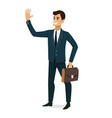 businessman smile success character design vector image