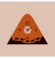 camel clock vector image vector image