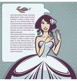 cartoon bride vector image vector image
