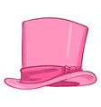 cartoon classic pink cylinder hat vector image vector image