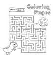 cartoon dinosaur maze game vector image vector image
