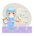 cartoon medical chemist vector image