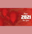 chinese new year 2021 year ox 3d red bull vector image