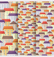 cityscape vertical narrow banners set in flat vector image vector image