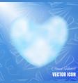 cloud heart icon vector image