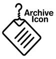 Coat Hanger Doc Archive vector image vector image