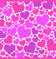color hearts on white background chaotic vector image vector image