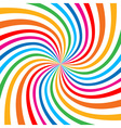 Colorful Bright Rainbow Spiral Background logo des vector image vector image
