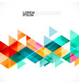 colorful transparency and fade triangle on white vector image vector image