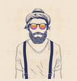 cool hipster vector image