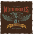 custom motorbikes poster vector image vector image