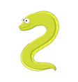 cute cartoonmoray eel sea animal vector image