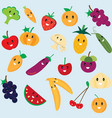 Cute fruit and vegetable cartoon