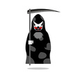 Death of cat Grim Reaper with an individual pet vector image vector image
