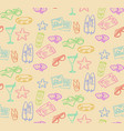 doodle summer beach seamless pattern vector image vector image