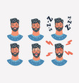 face expressions a man emotions set vector image vector image