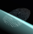 Fingerprint scanning Stock vector image vector image