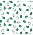 foliage seamless pattern vector image vector image