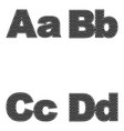 four letters a b c d large and small a simple vector image