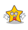 geek star character cartoon style vector image vector image
