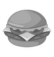 hamburger icon monochrome vector image