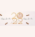 happy 2022 new year elegant christmas vector image