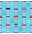 Happy easter cute holiday background seamless vector image vector image
