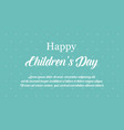 happy international children day banner style vector image vector image