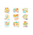 happy teachers day labels set logo graphic vector image vector image