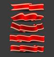 holiday ribbons set vector image vector image