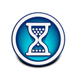 hourglass web icon vector image