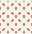 ice cream seamless pattern background fruit vector image