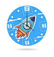 kids dial plate clock face with a vector image vector image