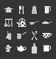 kitchen tools and utensils icons simple style vector image vector image