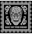 lace skull card vector image vector image