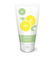 lemon cream white tube vector image vector image