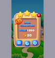 level completed mobile game user interface gui vector image vector image