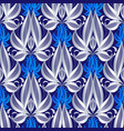 luxury floral line art 3d seamless pattern vector image