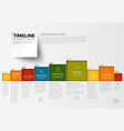 minimalist colorful timeline template vector image vector image