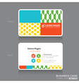 Modern Trendy Business card Design Template vector image