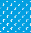 oil paints pattern seamless blue vector image vector image