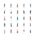 people character flat icons vector image vector image