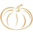 pumpkin pictogram vector image vector image