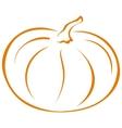 pumpkin pictogram vector image vector image